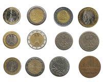 De achtergrond van muntstukken Stock Foto