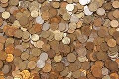De achtergrond van muntstukken Royalty-vrije Stock Fotografie