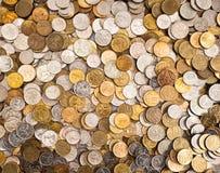 De achtergrond van muntstukken Royalty-vrije Stock Foto's