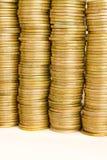 De achtergrond van muntstukken Stock Fotografie