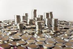 De achtergrond van muntstukken Stock Afbeeldingen