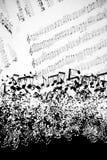 De achtergrond van muziekbladen Royalty-vrije Stock Afbeelding