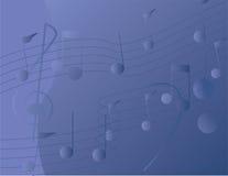 De achtergrond van muzieknoten Stock Afbeelding
