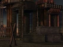 De Achtergrond van mysticus sc.i-FI Stock Afbeelding