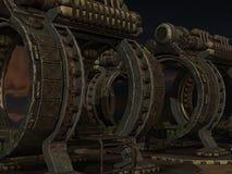 De Achtergrond van mysticus sc.i-FI Stock Afbeeldingen
