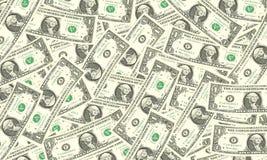 De achtergrond van één dollarrekeningen Royalty-vrije Stock Afbeeldingen