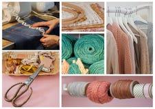 De achtergrond van naait voorwerpen Stock Fotografie