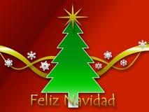 De achtergrond van Navidad van Feliz Stock Foto