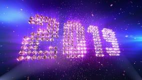 De achtergrond van de nieuwjaar 2019 Animatie stock illustratie
