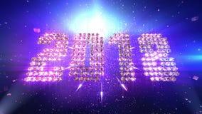 De achtergrond van de nieuwjaar 2018 Animatie stock illustratie