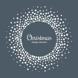 De Achtergrond van de nieuwjaar 2019 Kaart De cirkelkader van de sneeuwvlok Halftone rond sneeuwvlok gestippeld kader Kerstman Kl royalty-vrije illustratie