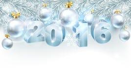 De Achtergrond 2016 van nieuwjaarkerstmis royalty-vrije illustratie