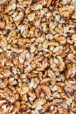 De achtergrond van de okkernoot Voedsel Achtergrond stock foto
