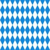 De achtergrond van Oktoberfest Beiers Vlagpatroon Royalty-vrije Stock Foto