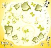 De Achtergrond van onzelieveheersbeestjes en van de Vlinder Royalty-vrije Stock Foto