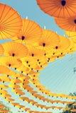 De Achtergrond van de parapluhemel Royalty-vrije Stock Afbeelding
