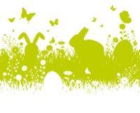 De achtergrond van Pasen van het de lentesilhouet Royalty-vrije Stock Afbeeldingen