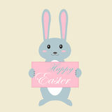 De achtergrond van Pasen met konijn Stock Fotografie