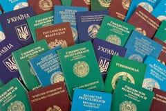 De achtergrond van paspoorten Stock Afbeelding