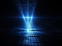 De achtergrond van de perspectieftechnologie - abstracte geproduceerde digitallu Royalty-vrije Stock Afbeeldingen