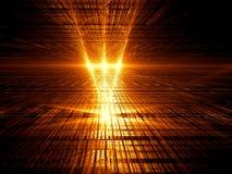 De achtergrond van de perspectieftechnologie - abstracte geproduceerde digitallu Stock Foto