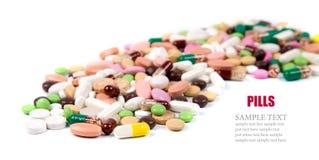 De achtergrond van pillen Royalty-vrije Stock Afbeeldingen