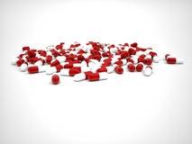 De achtergrond van pillen Stock Fotografie