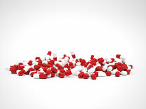 De achtergrond van pillen Stock Foto