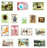 De achtergrond van postzegels Royalty-vrije Stock Foto's