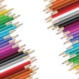 De achtergrond van potloden Stock Foto