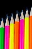 De achtergrond van potloden Stock Afbeelding