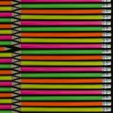 De achtergrond van potloden Royalty-vrije Stock Foto's