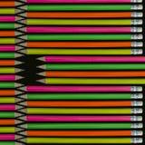 De achtergrond van potloden Royalty-vrije Stock Afbeeldingen
