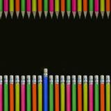 De achtergrond van potloden Stock Afbeeldingen
