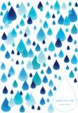 De achtergrond van regendalingen stock illustratie