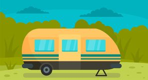 De achtergrond van de reissleep, vlakke stijl vector illustratie
