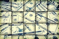 De Achtergrond van de Rekeningen van de dollar Het gemengde Geld van de V.S. Stock Fotografie