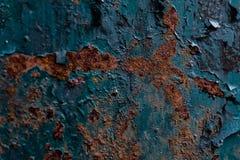 De achtergrond van de roest Groen en bruin stock foto's