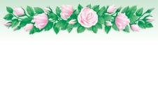 De achtergrond van rozen royalty-vrije illustratie