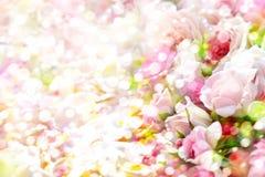 De achtergrond van rozenbloemen Royalty-vrije Stock Afbeelding