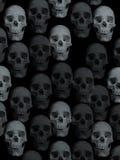 De achtergrond van schedels Stock Afbeeldingen