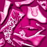 De achtergrond van schoenen Royalty-vrije Stock Foto's