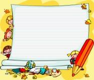 De achtergrond van schoolkinderen Stock Fotografie