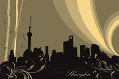 De achtergrond van Shanghai Stock Fotografie