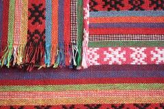 De achtergrond van sjaals Stock Foto's