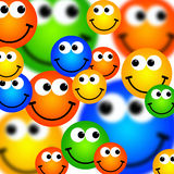 De achtergrond van Smileys Stock Afbeeldingen