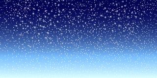 De achtergrond van de sneeuw Vectorillustratie met dalende sneeuwvlokken De winter sneeuwende hemel Vector stock illustratie