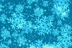 De achtergrond van sneeuwvlokken Stock Foto's