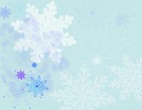 De achtergrond van sneeuwvlokken Stock Afbeelding