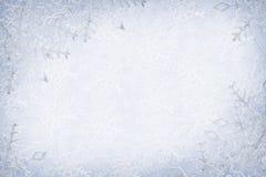 De achtergrond van sneeuwvlokken Royalty-vrije Stock Afbeeldingen